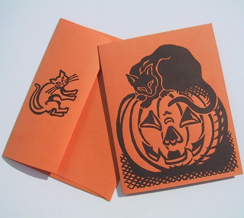 Dandy Lion Halloween Letterpress Card