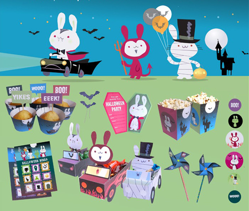 Happythought Bunny Halloween Party Printables