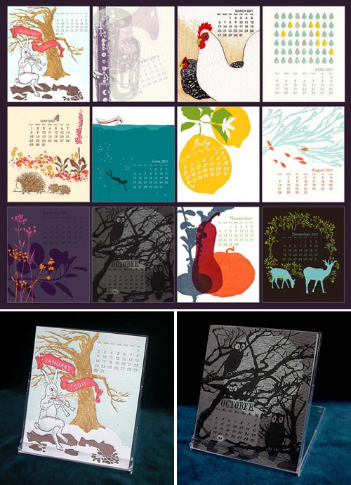 Ilee 2011 Letterpress and Silkscreen Calendar