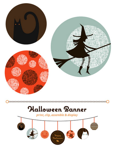Free Printable Halloween Garland Banner