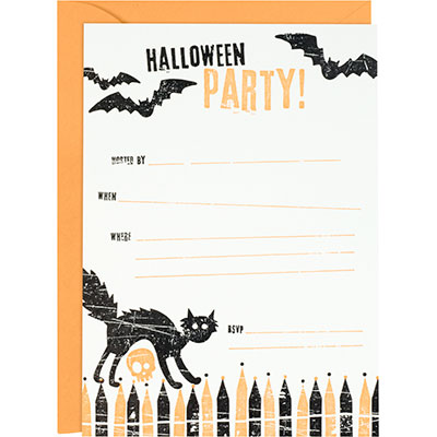 Paper Source Halloween Letterpress Invites