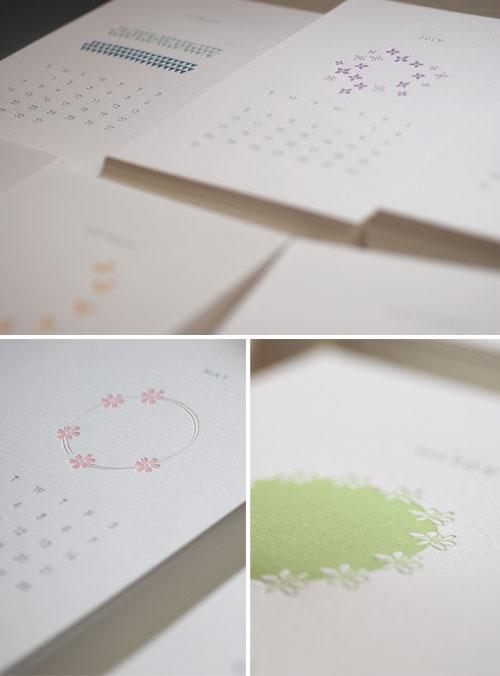 Satsuma Letterpress 2011 Calendar