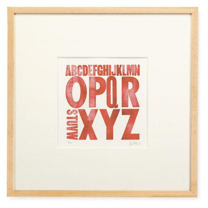 Zeichen Press Letterpress Alphabet Prints