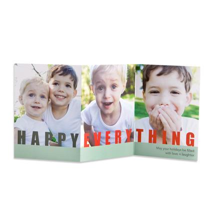 Tiny Prints Happy Everything Holiday Photo Card