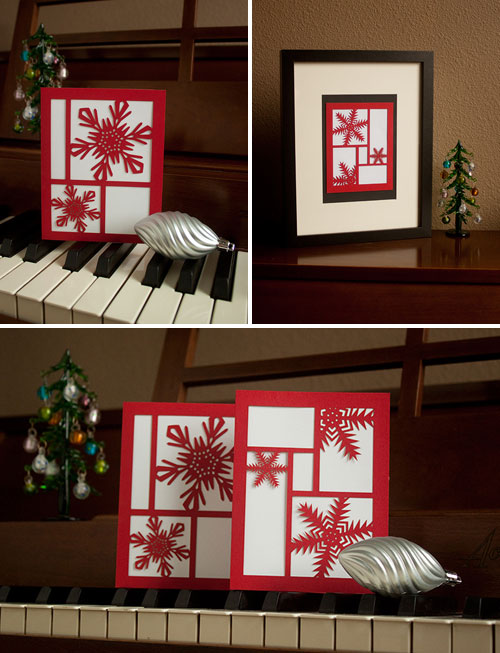 KM Design Lasercut Holiday Cards