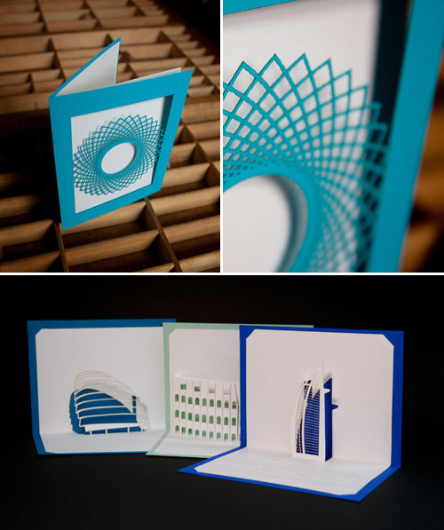 Katie McElroy Laser Cut Origamic Architecture Cards