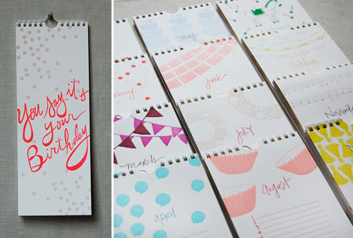 Linda & Harriett Letterpress Birthday Calendar