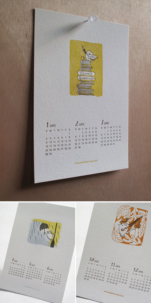 Yun Chung Letterpress Calendar