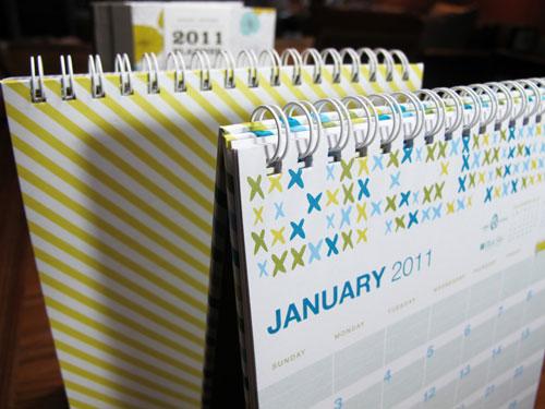 Blue Sky Egg Press Desk Calendar