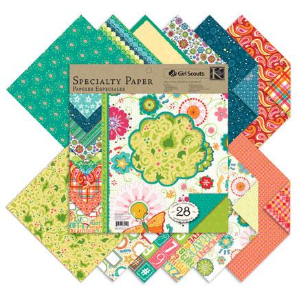 Specialty Paper Scrapbook Girl Scouts