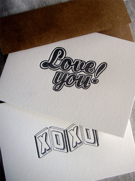 Leigh Wells Lettered Letterpress Cards