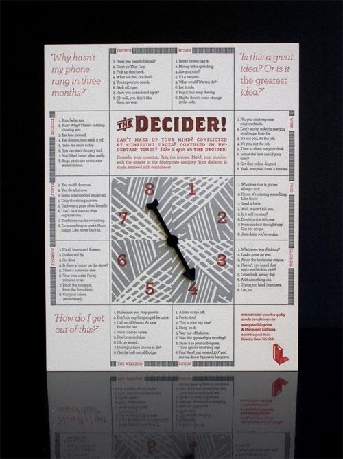 The Letterpress Decider Novelty