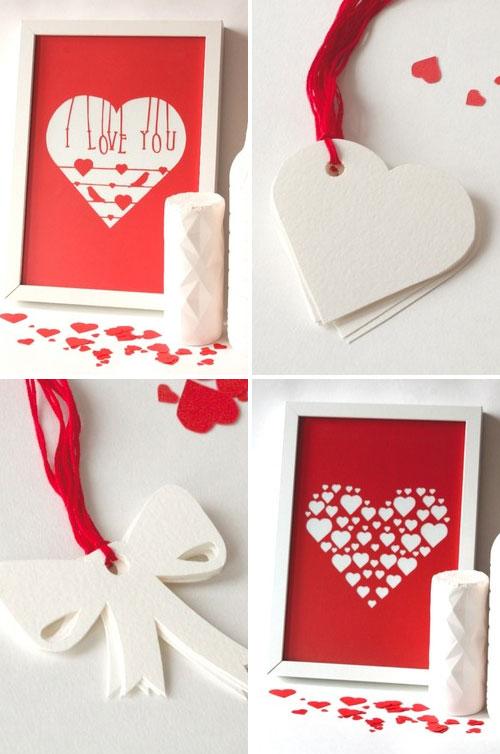 Mr. Yen Valentine's Day Paper Cut