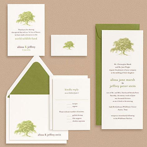 Paper Source Oak Tree Wedding Invitations Paper Crave