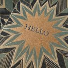 Blue Star Letterpress Hello Card