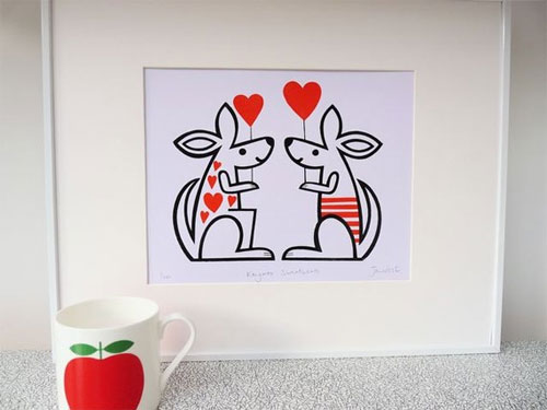 Jane Foster Kangaroo Screen Print