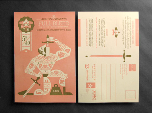 Full Bleed, The Design and Tattoo Experience Postcard