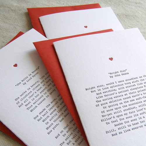Love Poetry Letterpress Cards