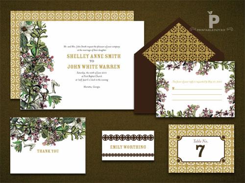 Elegant Printable Wedding Invitations