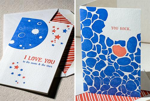 Smock Letterpress Valentine's Day Cards