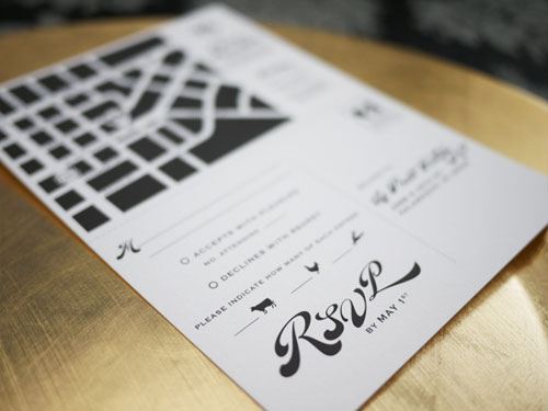 RSVP Card Directions Map