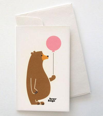 Bear Greeting Card Mitchell & Dent