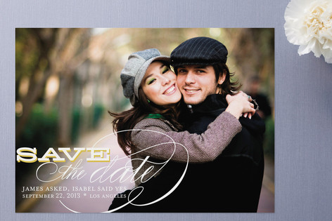 Calligraphy Save the Date Card