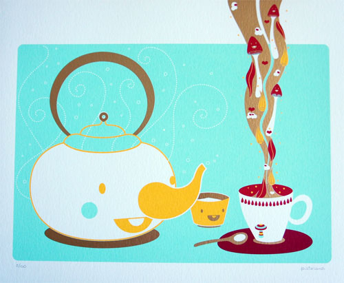 Tea Time Screenprint