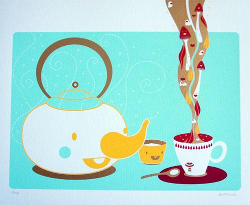 Tea Time Screenprint