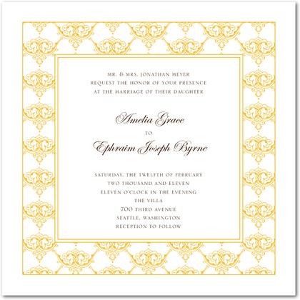 Timeless Ardor Wedding Invitations