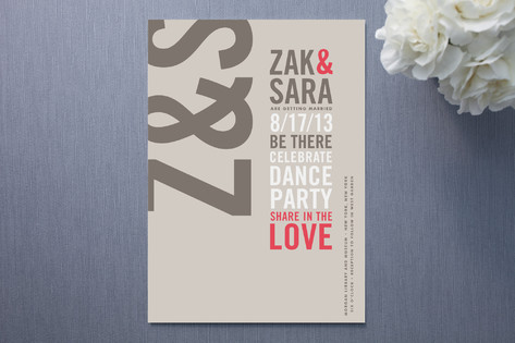 Type Stack Wedding Invites