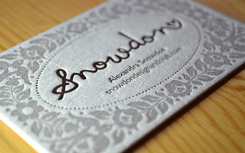 Snowdon Business Cards