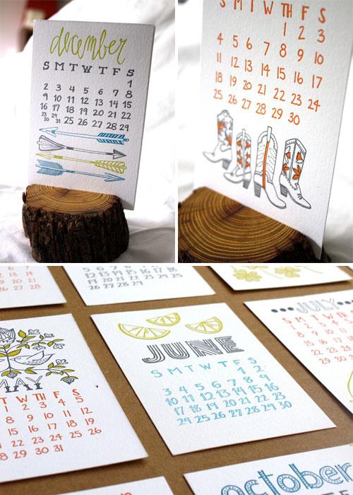 1Canoe2 2012 Letterpress Calendar