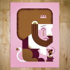 Lion and Mouse Screen Print