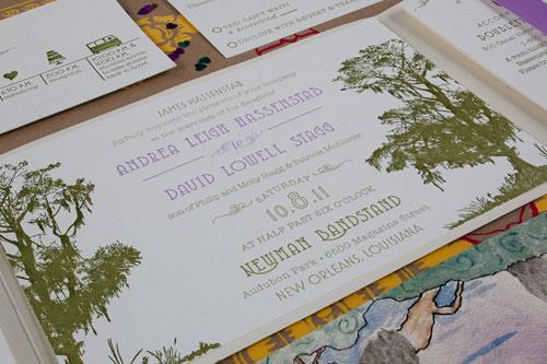 Letterpress New Orleans Wedding Invitations
