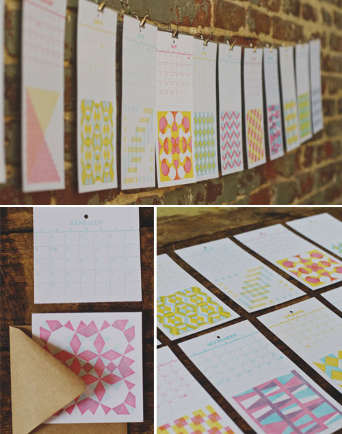 Fourth Year Studio Letterpress Calendar