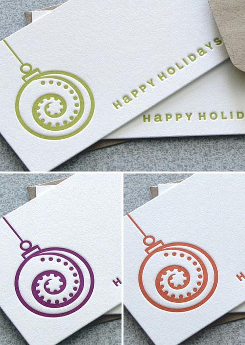Happy Holidays Mini Cards