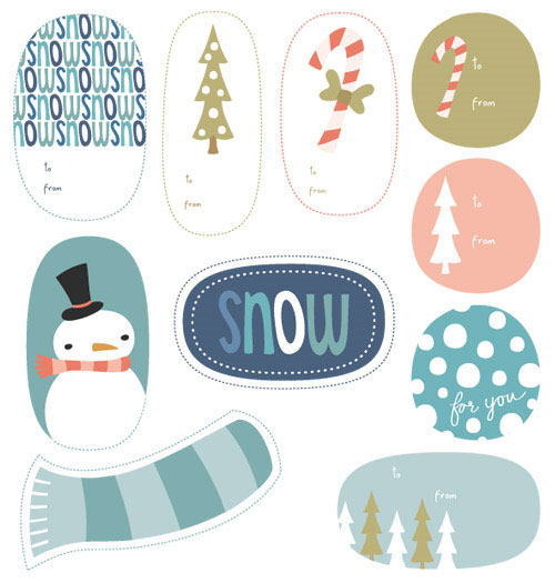 Wintry Printable Holiday Tags