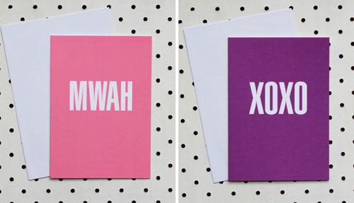 Akimbo Mwah and XOXO Cards