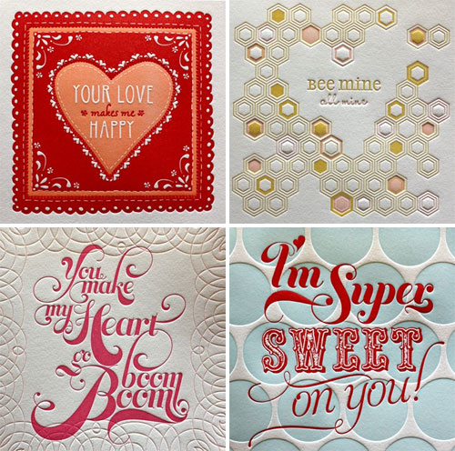 Elum Letterpress Valentines