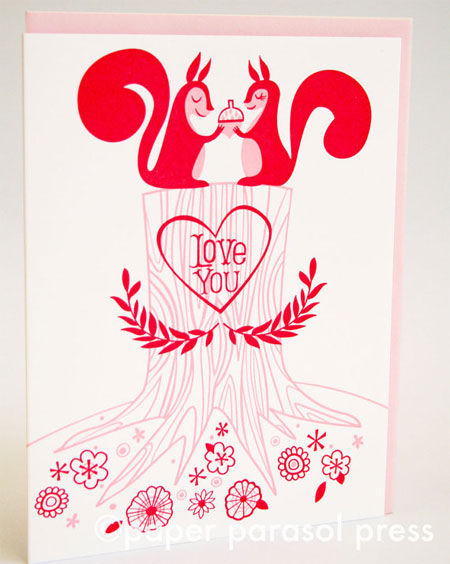 Love Squirrels Valentine Card