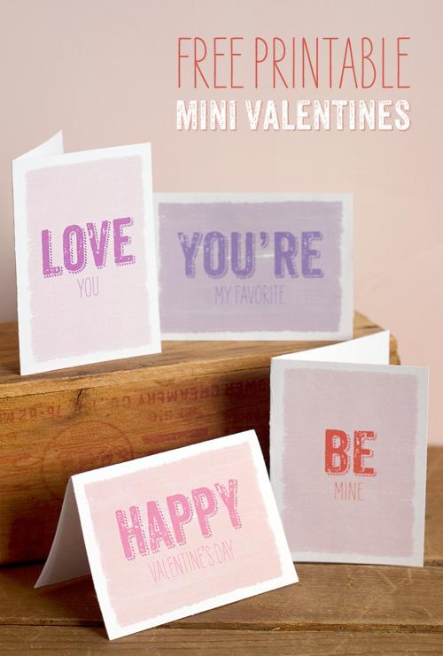 Free Printable Mini Valentines