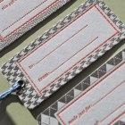 Menswear Inspired Letterpress Gift Tags