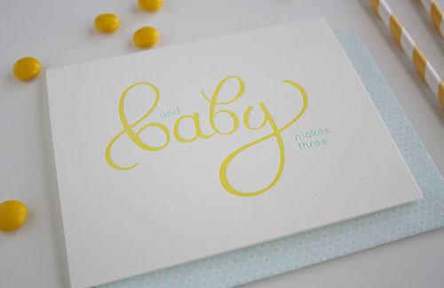 Baby Letterpress Card