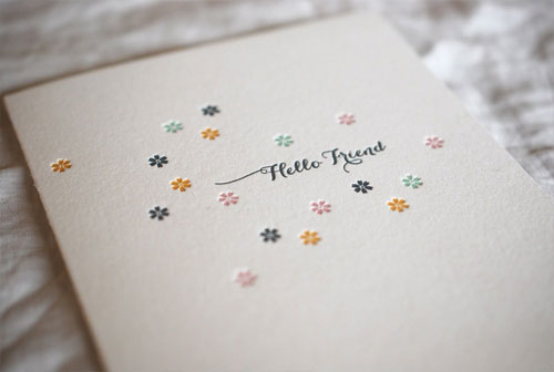 Satsuma Press Hello Friend Card