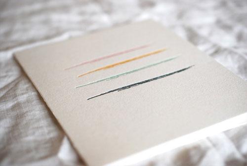 Letterpress Paint Card