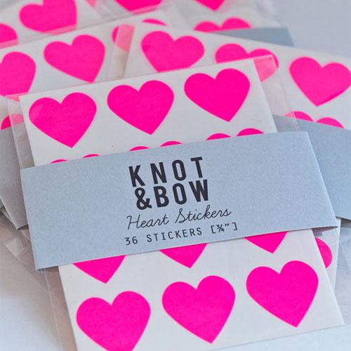 Neon Heart Stickers