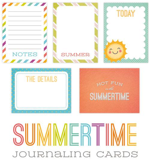 Free Printable Summer Journaling Cards