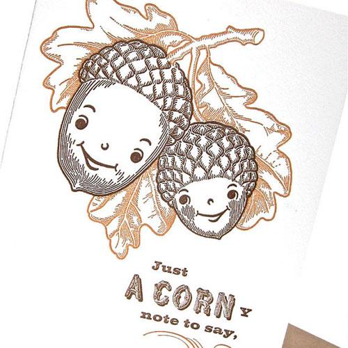 A Corny Birthday Greeting Card