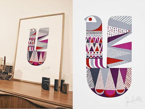Saimaanlintu Art Print by Sanna Annukka